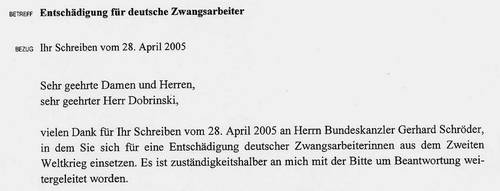 deutsche dank schreiben